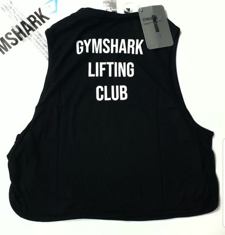 Gymshark tank top bokserka crop Black friday tank french r. S nowy