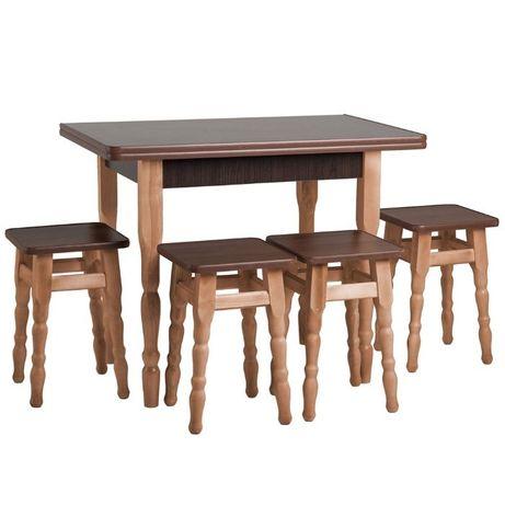 Кухонный комплект, деревянный СТОЛ + 2,3,4 ТАБУРЕКИ ,от производителя