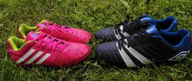 UMBRO +Adidas r.36 dł.wkł.23cm korki