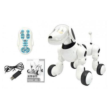 Собака реаригует на голос - интерактивная игрушка выполняет команды,