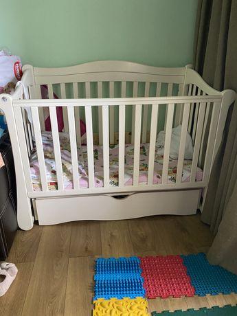 Детская кроватка Верес Соня Лд 18 Слоновая кость маятник с ящиком