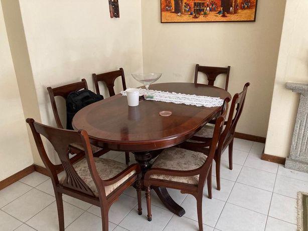 Conjunto de sala- Cristaleira + mesa