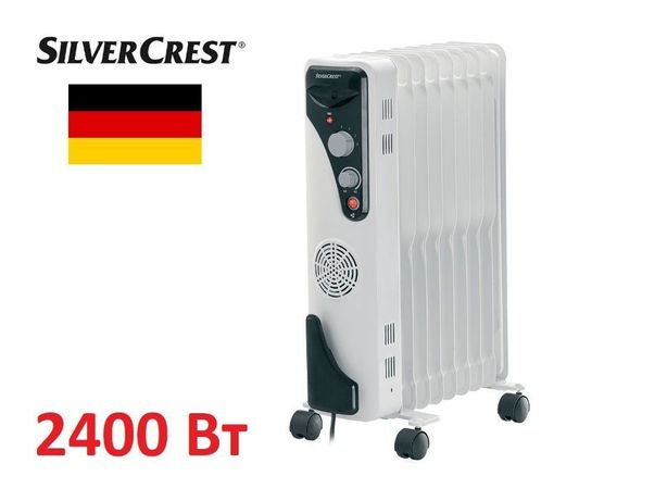 Обогреватель ГЕРМАНИЯ SilverCrest® 2400 Вт масляный радиатор обігрівач