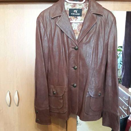 Кожаная женская куртка, жакет, пиджак.