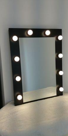 Lustro make up do makijazu wizażu led toaletka z żarowkami hollywood