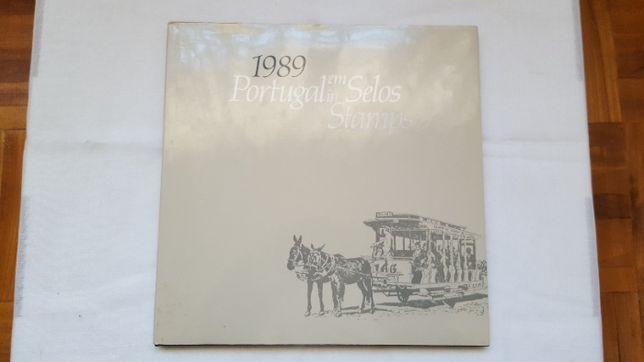 Livro Portugal em Selos ano completo 1989 c/ os selos