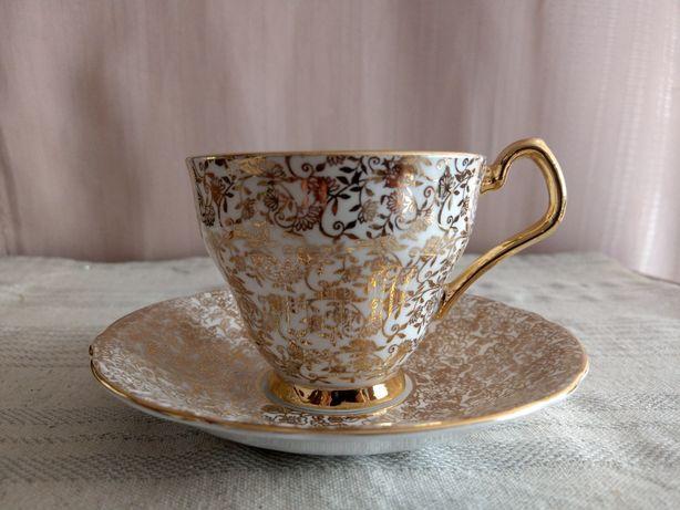 1950' Windsor Royal Zlota Rocznica Filizanka Vintage kostna porcelana