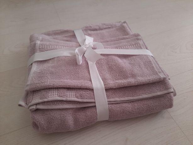 Komplet prezentowy ręczniki jasny fiolet liliowe  3 rozmiary