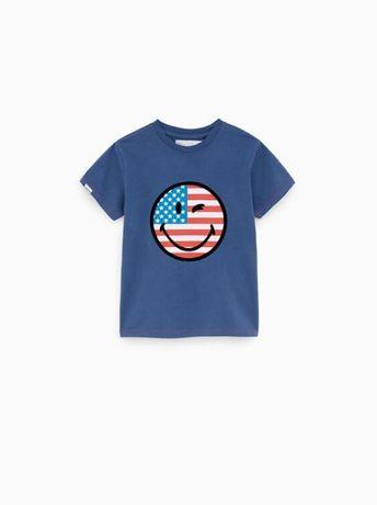 zara t-shirt smiley dla chłopca 164 j.nowy