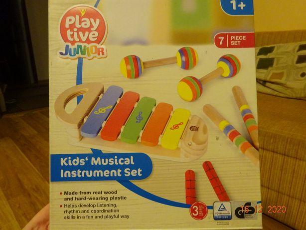 Drewniany komplet instrumentów muzycznych
