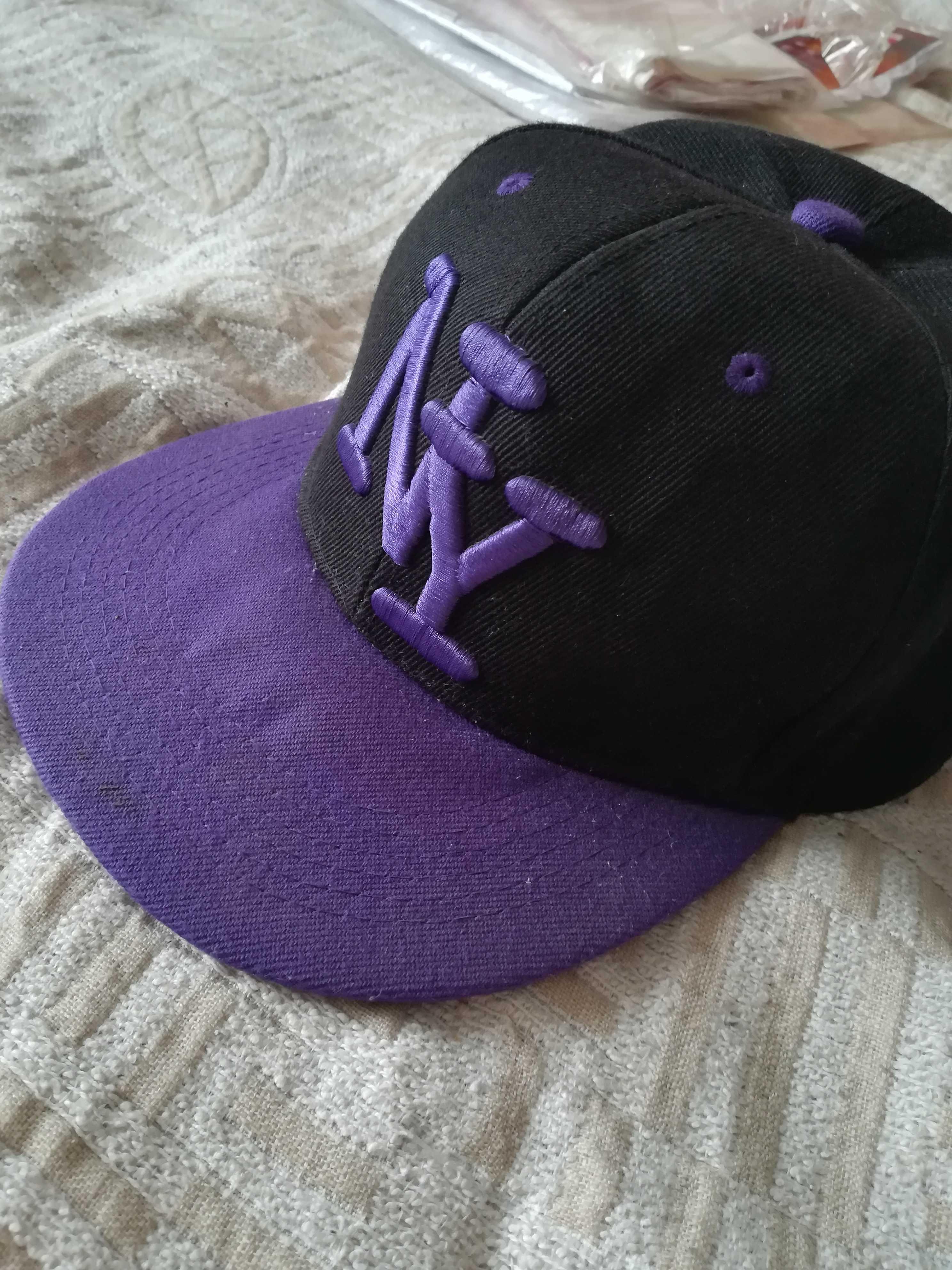 Fullcap New York Yankees fioletowo-czarny