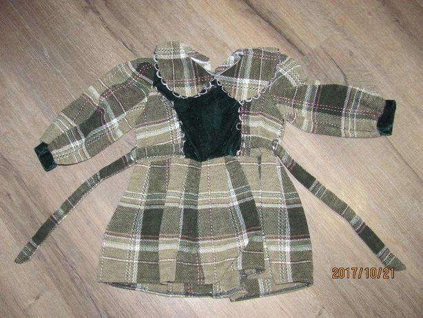 Платье для девочки теплое шерстяное зимнее