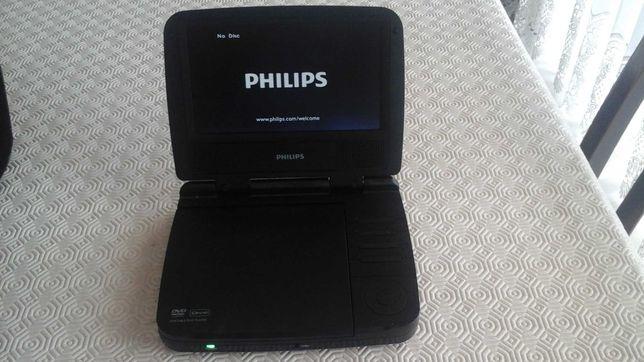 """DVD portátil Philips de 7"""" com mala auto para transporte"""