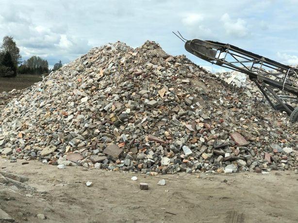 Gruz kruszony kruszywo betonowe-ceglane recykling gruz budowlany