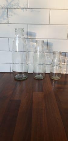 3 butelki z PRL wintage