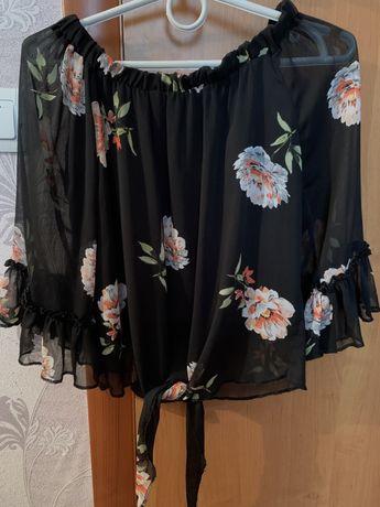 Блузка женская черная