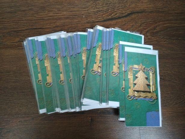Открытки новогодние (55 шт) поздравительные с конвертом