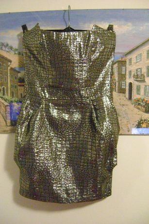Sukienka srebrna r.10 BAY