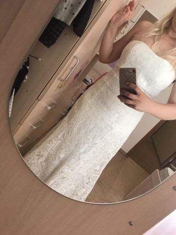 Кружевное свадебное платье Турция р.3
