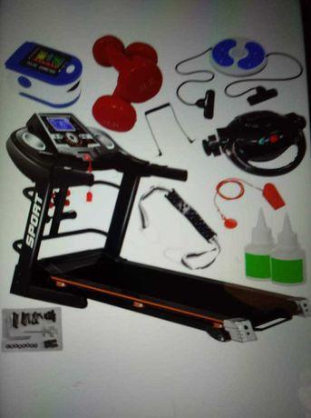 Jak nowa Bieżnia elektryczna fit-net z masażerem hantlami, usb, gwaran