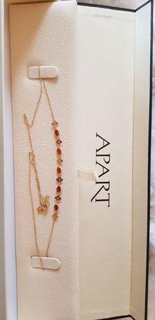 Komplet naszyjnik i bransoletka złoto pr 585 cyrkonie Apart