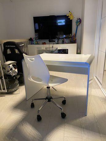 Biurko + krzesło białe lakierowane!