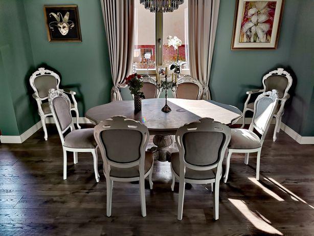Stół + krzesła, shabby chic, prowansalski
