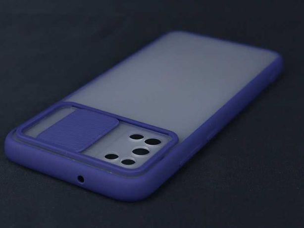 Capa Samsung Galaxy A02S Rígida Bumper Proteção Câmara Azul E*P.GRÁTIS