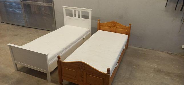 Łóżko drewniane 90x200 sosna Wektor. Ługów