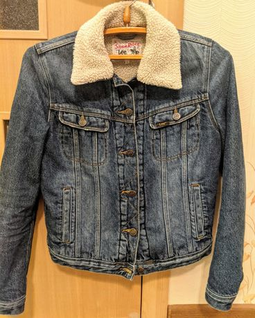 Винтажная джинсовая куртка Lee с меховой подкладкой