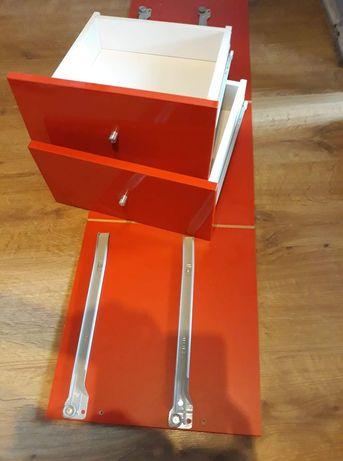 Wkład z dwoma szufladami czerwony połysk Kallax