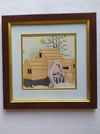 Картина детская водяная мельница