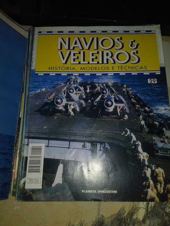Conjunto de mini livros 'Navios e Veleiros'