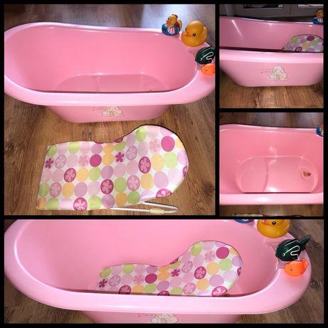 Ванночка для купания деток Bebe Jou + шезлонг + игрушки за 285 грн.