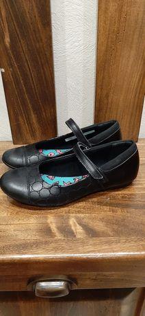 Кожаные туфли Clarks 23 см по стельке