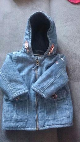 next r 82 kurteczka jeansowa kaptur stan idealny
