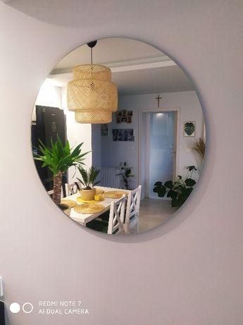 Okrągłe lustro dekoracyjnycje szlifowane