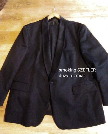 Czarny smoking renomowanej marki SZEFLER