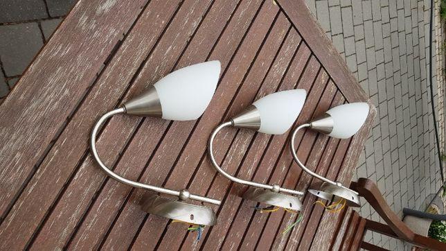 lampa komplet kinkietów