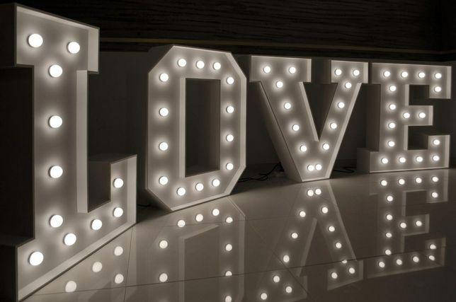 Napis LOVE Led 120cm x 4m na wesele