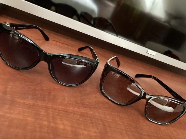Okulary czarne i brąz