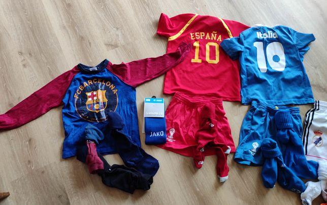 Strój piłkarski 5-6 latka roz 116-120 Barcelona Real Italy Spain