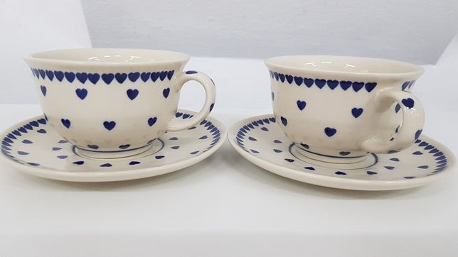 Filiżanka serduszka ceramika Bolesławiec