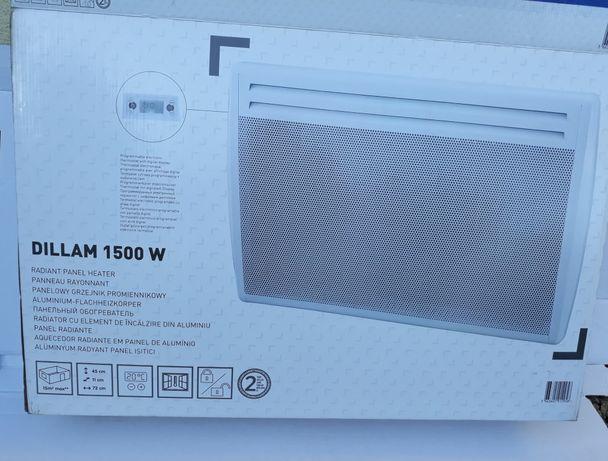 Panelowy grzejnik promiennikowy Dillam 1500 W / grzejnik elektryczny