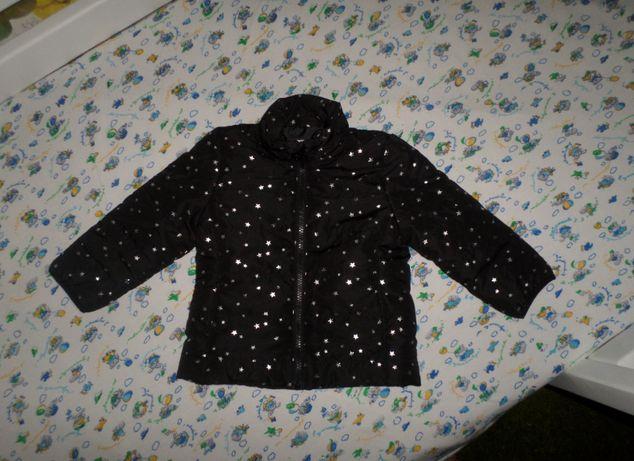 Состояние новой! Красивая курточка куртка в звезды H&M на девочку 92см