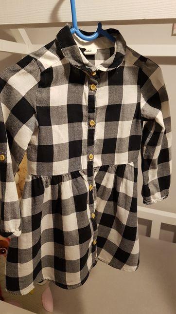 Sukienka krata H&M rozm 98