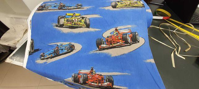 Tkanina bawełniana  z motywem wyścigówek