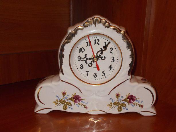Zegar kominkowy róża 013, porclanowy Chodzież