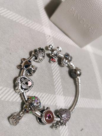 Pandora bransoletka i charmsy nowe