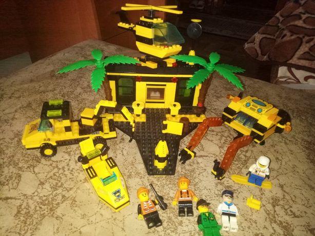 конструктор лего lego, набор база спасателей,береговая охрана,машинка
